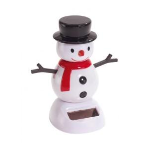Frost napelemes hóember figura