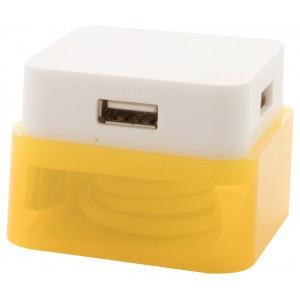 """""""Dix"""" USB elosztó , sárga"""