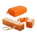 """""""Rebex"""" USB töltő és power bank szett , narancssárga"""