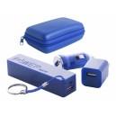 """""""Rebex"""" USB töltő és power bank szett , kék"""