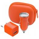 """""""Canox"""" USB töltő szett , narancssárga"""