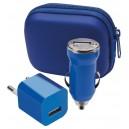 """""""Canox"""" USB töltő szett , kék"""