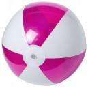 Zeusty strandlabda , rózsaszín-fehér