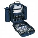Piknik hátizsák 4személyre, kék