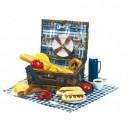 Piknikkosár porcelán tányérokkal
