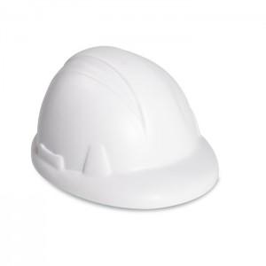 Védősisak alakú  stresszoldó, fehér