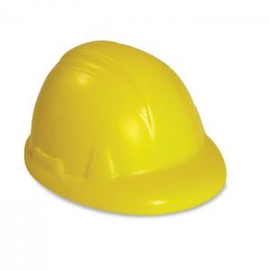 Védősisak alakú  stresszoldó, sárga