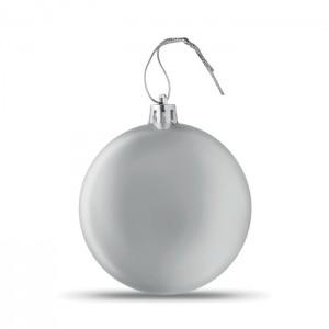 LIA BALL Lapos karácsonyfadísz, ezüst
