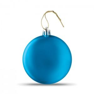 LIA BALL Lapos karácsonyfadísz, kék