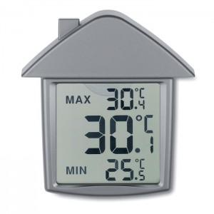 TERMOHOUSE Ház alakú hőmérő, ezüst