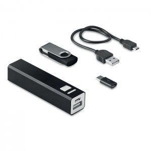 8 GB USB és külső akkumulátor, fekete