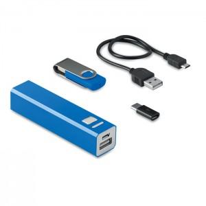 8 GB USB és külső akkumulátor, kék