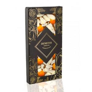 Tejcsokoládé mandulával és narancsos csokival