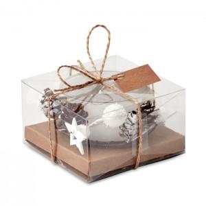 BOUGIE Karácsonyi mécsestartó, fehér