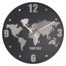 Alumínium fali óra, szürke