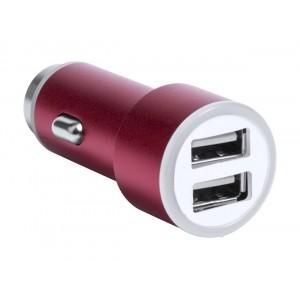 Hesmel USB töltő autóba , piros