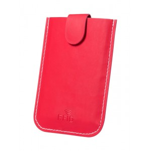 Serbin bankkártyatartó , piros