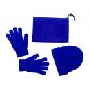 Duvel sapka és kesztyű szett , kék