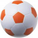 Focilabda formájú stresszlabda, fehér-narancssárga