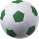Focilabda formájú stresszlabda, fehér-zöld
