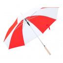 Korlet esernyő , piros-fehér