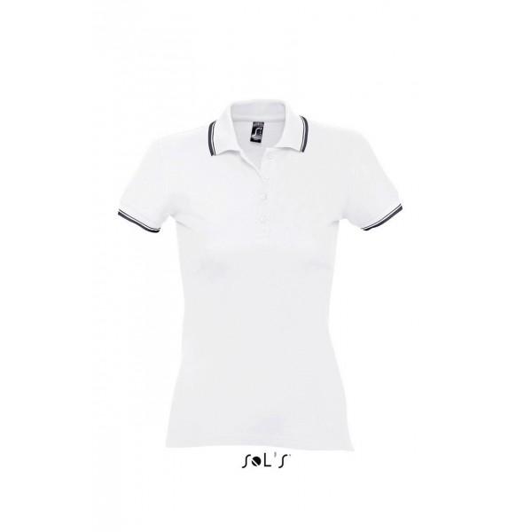 547d303a4e Sols Practice női galléros póló 270gr. White-Navy Emblémázásról érdeklődjön  email-ben!