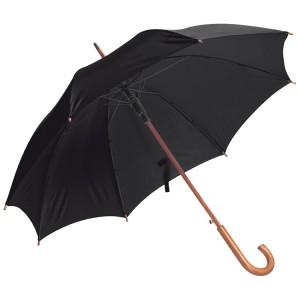 Favázas automata esernyő, fekete