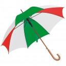 Favázas automata esernyő, piros- fehér-zöld