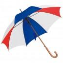 Favázas automata esernyő, piros- fehér-kék