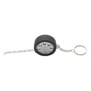 """""""Wheel"""" kulcstartó mérőszalaggal , fekete"""