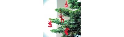 Karácsonyfák, karácsonyfadíszek,